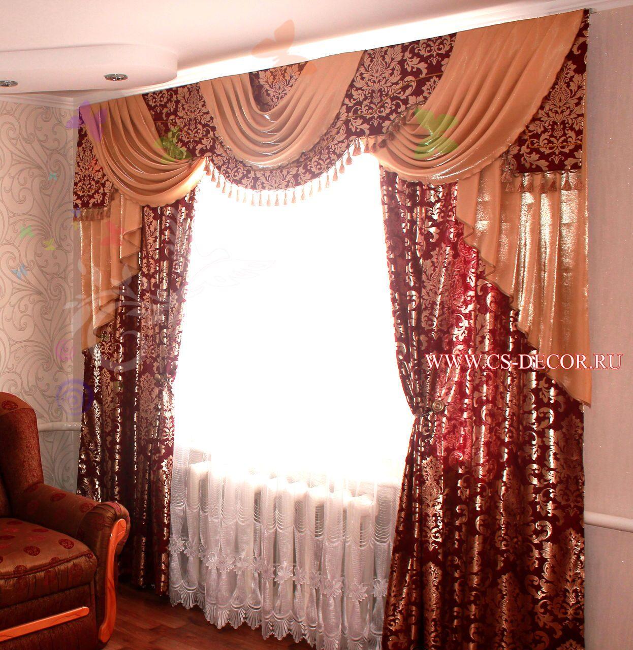 Дизайн ламбрекенов и штор